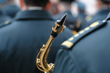 military orchestra saxophone.