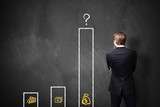 überproportional wachsender Geld- oder Schuldenberg