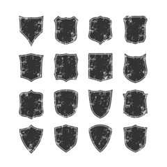 Big set of blank, grunge, classic shields