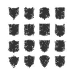 Big set of blank, grunge, classic shields