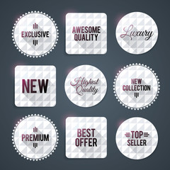 Luxury badges and labels, print friendly. ESP10.