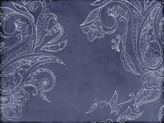 Card with paisley pattern. Place for your text