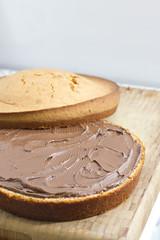 Baking a chocolate home made cake