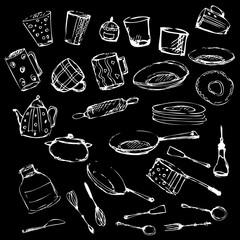 Set of kitchen utensil and collection of cookware 2