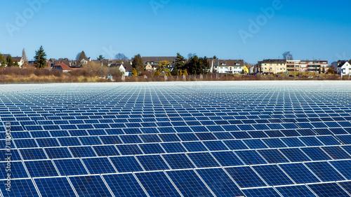 canvas print picture Solarkraftwerk