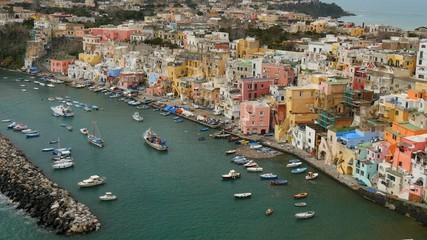 Island of Procida. Naples, Italy. UHD, 4K