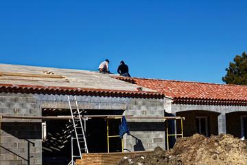 Pose toiture maison