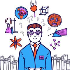 Scientist Sketch Concept