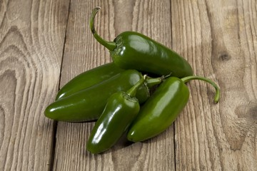 bunch of  jalepeno peppers