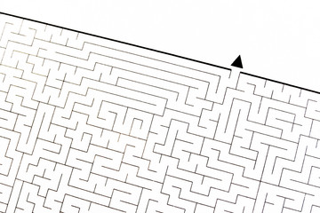 Labyrinth as problem solving (textured with rough paper)
