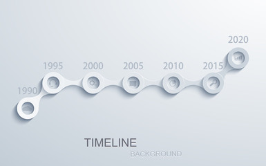 Vector modern timeline infographic.