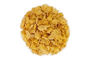 circle made up of cornflakes