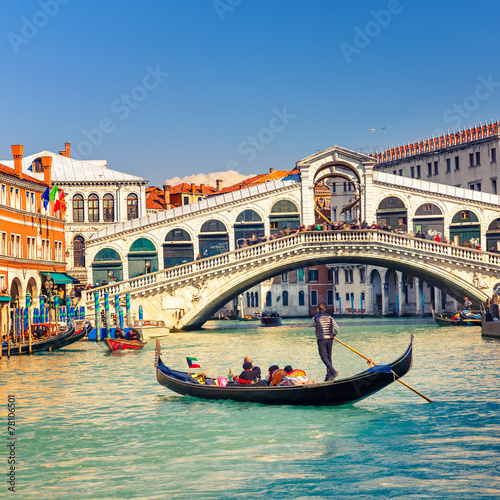 Rialto Bridge in Venice Poster