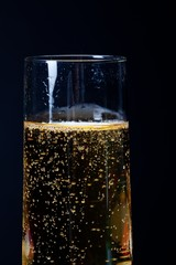 close up shot of a champagne glass