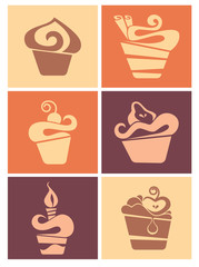 Vector collection of cakes images