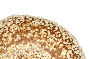 cropped image bagel with sesame seeds