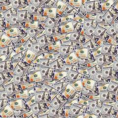 One hundred dollar banknotes background. Money