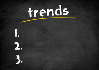 trend chalkboard concept