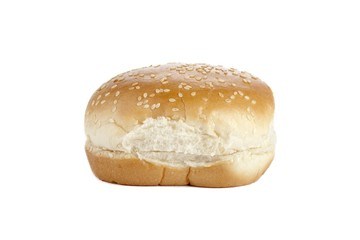 hamburger bun with sesame seeds