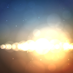 Abstract soft blurred vector background with bright light