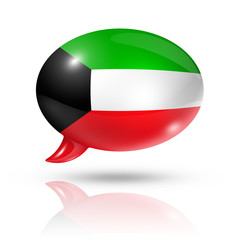 Kuwaiti flag speech bubble