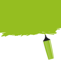 Green highlighter coloring the background