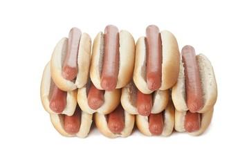 stack of hotdog sandwiches