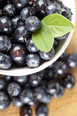 bowl of delicious blueberries