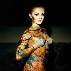 Fashion art portrait of beautiful women