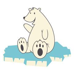 Polar bear, vector illustration, isolated