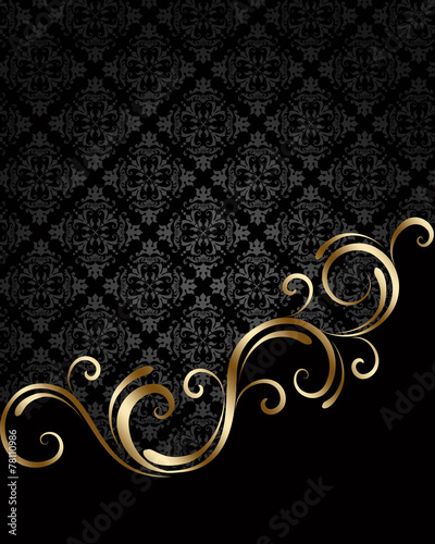 Papiers peints Spirale Black and golden background 3