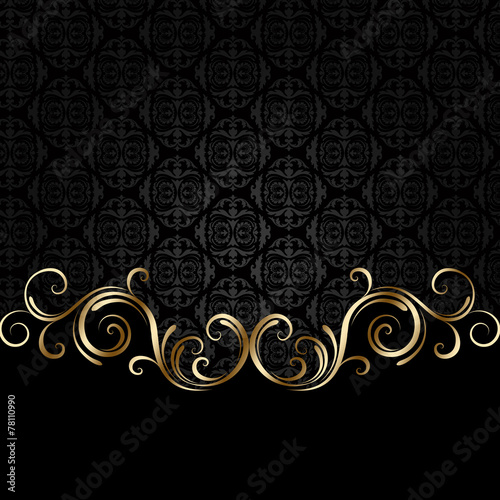 Papiers peints Spirale Black and golden background 2
