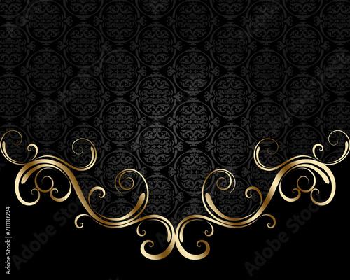 Fotobehang Spiraal Black and golden background
