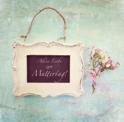 Muttertagskarte - nostalgisch