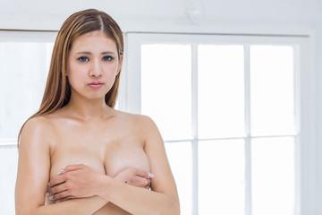 美肌の女性