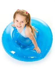 Girl: Little Girl With Inflatable Tube