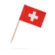 Leinwanddruck Bild - Miniature Flag Switzerland. Isolated on white background