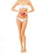 Beautiful woman in a bikini. perfect figure.