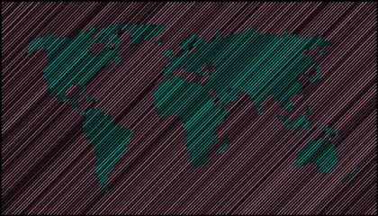 World map diagonal random dark green magenta  EPS 10