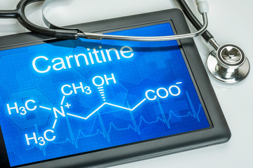 Tablet with the chemical formula of carnitine