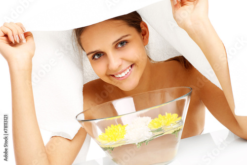 Facial treatment in spa Poster