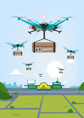 Parcel or Package Delivery via Remote-controlled Drones
