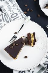 Chocolate and coffee tart