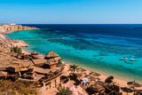 Fototapeta Red Sea coastline  in  Sharm El Sheikh,  Egypt, Sinai