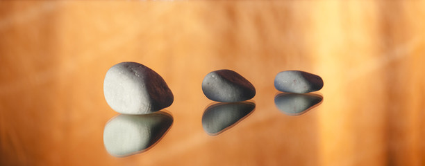 white stones relaxation zen