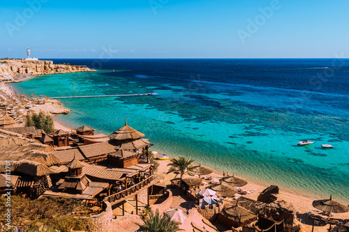 In de dag Egypte Red Sea coastline in Sharm El Sheikh, Egypt, Sinai