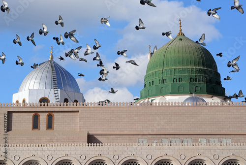 Deurstickers Midden Oosten Towers of the Nabawi mosque
