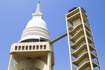 View of Sambodhi chaithya Buddhist Temple in Colombo, Sri Lanka