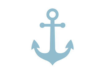 Anchor vector icon on white background