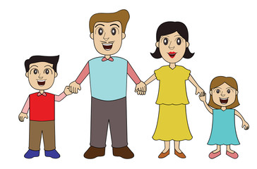 family holding hands.